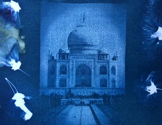 Cyanotype, Contact Print, Altered Image, Taj Majal